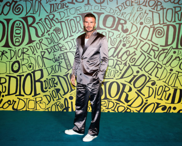 david beckham DIOR MEN FALL 2020: RUNWAY SHOW fashiondailymag