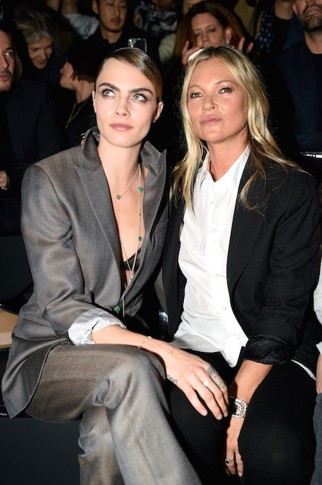cara delevingne and kate moss at dior