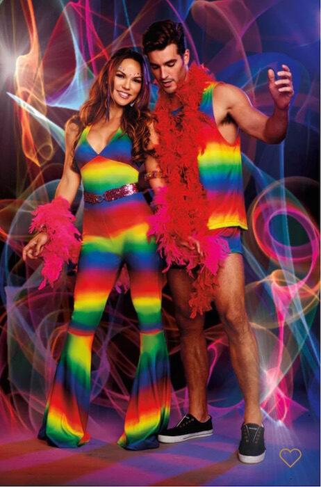 RAINBOW COUPLE LACE SOCKS STAY HOME HOLIDAY 2020 brigitteseguracurator 3wishesLINGERIE FashionDailyMag